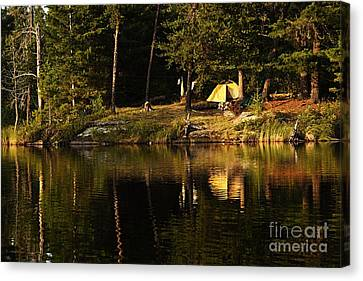 Lakeside Campsite Canvas Print
