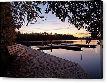 Lakeside In The North Woods Canvas Print by Adam Pender