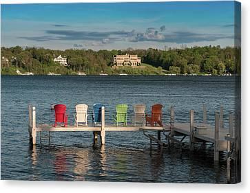 Lake Geneva Wisconsin Canvas Print - Lakeside Living Number 3 by Steve Gadomski