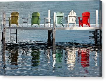 Lakeside Living Canvas Print by Steve Gadomski