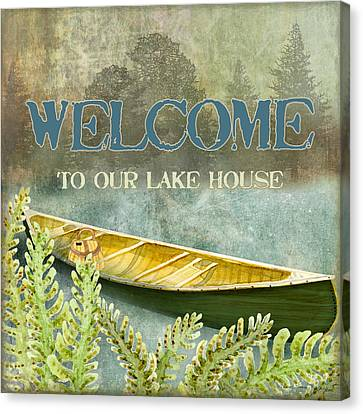 Lakeside Lodge - Welcome Sign Canvas Print
