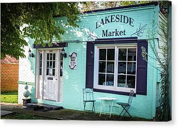 Lakeside Market Canvas Print