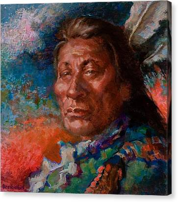 Lakota Man Canvas Print by Ellen Dreibelbis