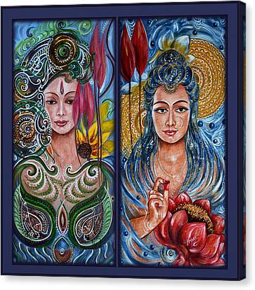 Goddess Durga Canvas Print - Lakshmi Abundance by Harsh Malik