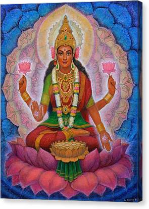 Canvas Print featuring the painting Lakshmi Blessing by Sue Halstenberg