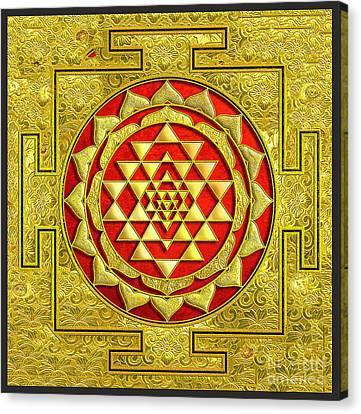 Lakshmi Kubera Yantra Canvas Print