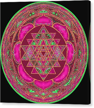 Lakshmi Yantra Mandala Canvas Print by Svahha Devi