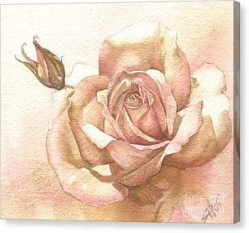 Lalique Rose Canvas Print