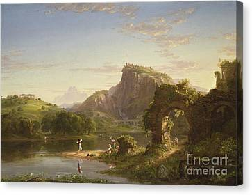 L'allegro, 1845 Canvas Print by Thomas Cole