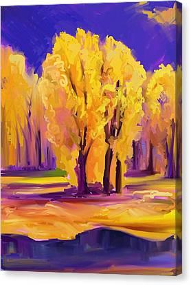 Lamar Valley Fire Canvas Print