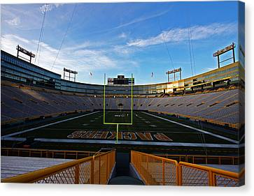 Lambeau Endzone Two Canvas Print by Ty Helbach