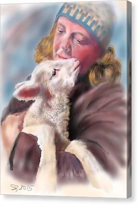 Lambie Love Canvas Print