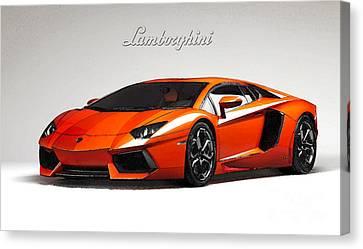 Lamborghini Aventador Canvas Print by Mohamed Elkhamisy