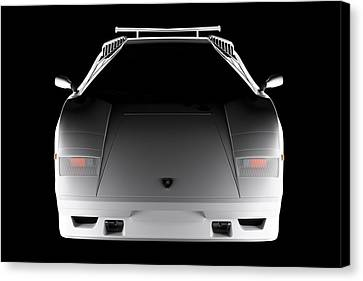 Lamborghini Countach 5000 Qv 25th Anniversary - Front View  Canvas Print