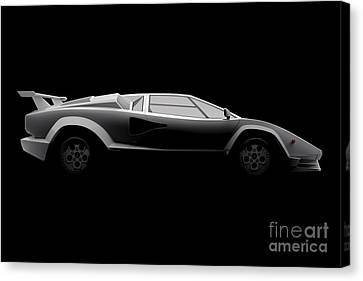 Lamborghini Countach 5000 Qv 25th Anniversary - Side View Canvas Print