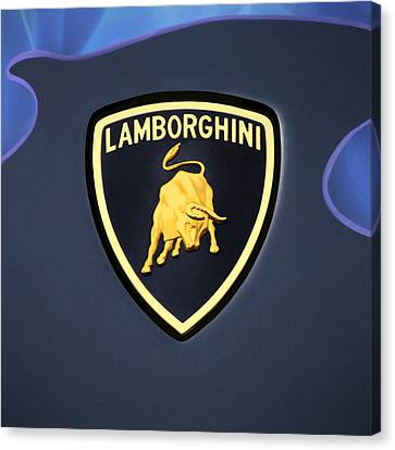 Lamborghini Emblem Canvas Print by Mike McGlothlen