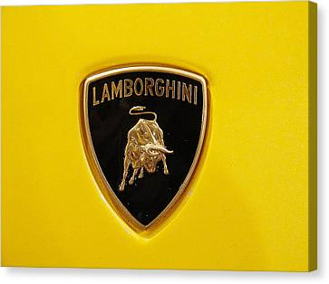 Lamborghini Logo Canvas Print by Sydney Alvares