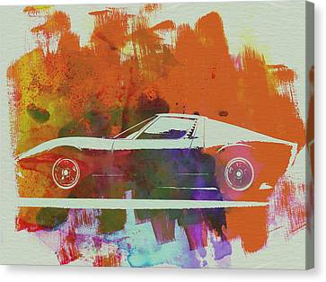 Lamborghini Miura Side 2 Canvas Print by Naxart Studio