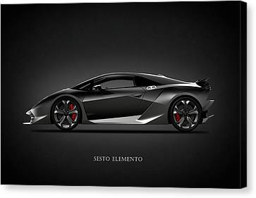 Lamborghini Sesto Elemento Canvas Print by Mark Rogan