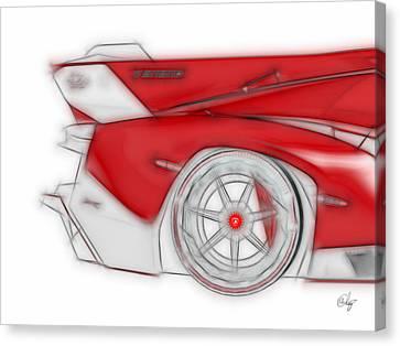Lamborghini Veneno Red Dream Canvas Print