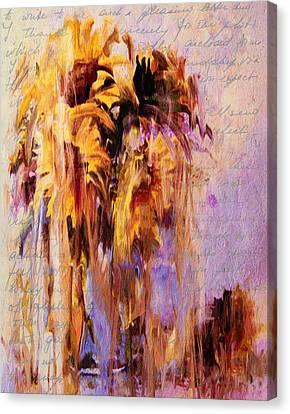 Lament Of Sunflowers Canvas Print by Georgiana Romanovna