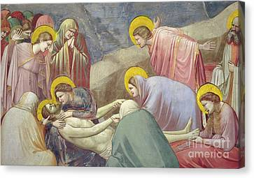 Lamentation Over The Dead Christ Canvas Print by Giotto di Bondone