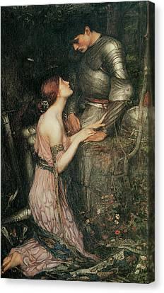 Lamia Canvas Print by John William Waterhouse