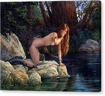 Lamia Transformed Canvas Print by Richard Hescox