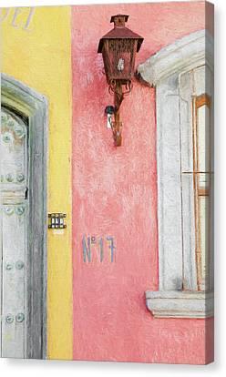 San Miguel De Allende Canvas Print - Lamp At No 17 by Rob Huntley