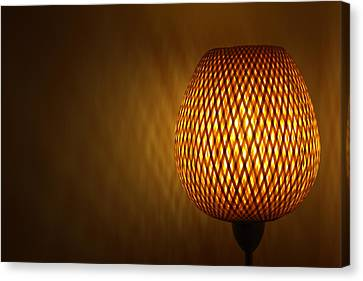 Canvas Print featuring the photograph Lamp by RKAB Works