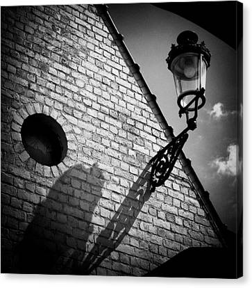 Lamp With Shadow Canvas Print by Dave Bowman