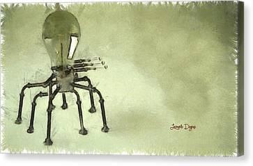 Lampbot Canvas Print by Leonardo Digenio