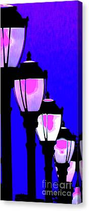 Lamps 1e Canvas Print by Ken Lerner
