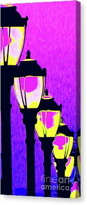 Lamps 1h Canvas Print by Ken Lerner
