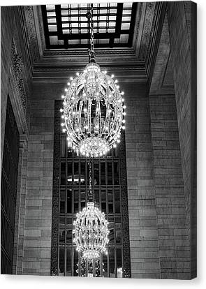 Canvas Print featuring the photograph Lamps In Grand Central Station by Lora Lee Chapman