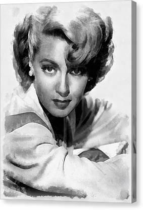 Lana Turner By John Springfield Canvas Print