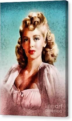 Lana Turner, Vintage Actress Canvas Print
