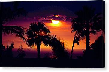 Lanai Sunset Canvas Print