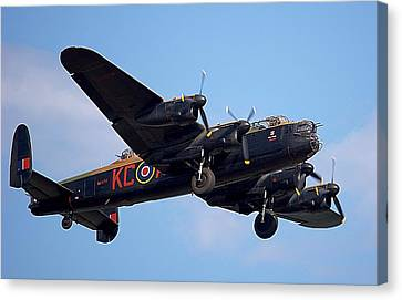 Lancaster Bomber Canvas Print by Mark Hinds