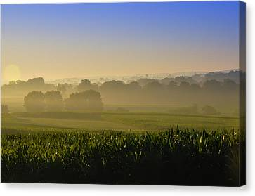 Lancaster County Sunrise Canvas Print by Bill Cannon