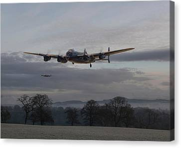 Lancaster - He Aint Heavy He's My Brother' Canvas Print by Pat Speirs
