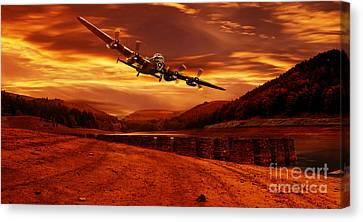 Lancaster Over Ouzelden Canvas Print by Nigel Hatton