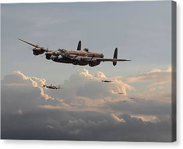 Lancasters - 'maximum Effort' Canvas Print by Pat Speirs