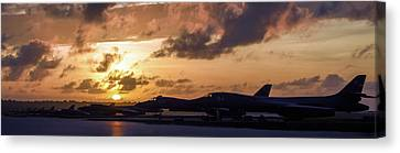 Lancer Flightline Canvas Print by Peter Chilelli