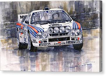 Lancia 037 Martini Rally 1983 Canvas Print by Yuriy  Shevchuk