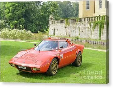 Lancia Stratos Hf Classic 1970s Rally Car Canvas Print