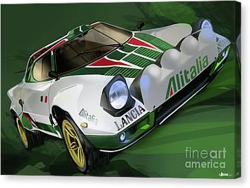 Lancia Stratos Hf Rally Car Canvas Print
