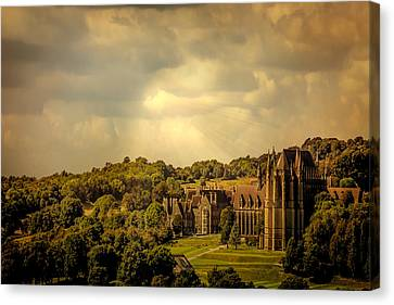 Canvas Print featuring the photograph Lancing College by Chris Lord