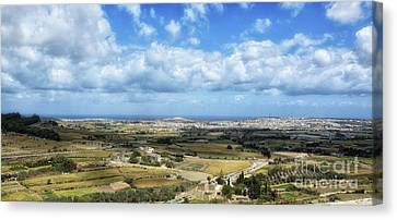 Land And Sky Canvas Print by Stephan Grixti