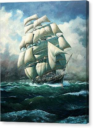 'land Ho' Cutty Sark Canvas Print